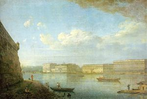 Fedor Yakovlevich Alekseev - View of the Palace Sea-front From the Fortress of St. Peter and Paul