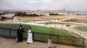 Berthe Morisot - View of Paris from the Trocadero Heights