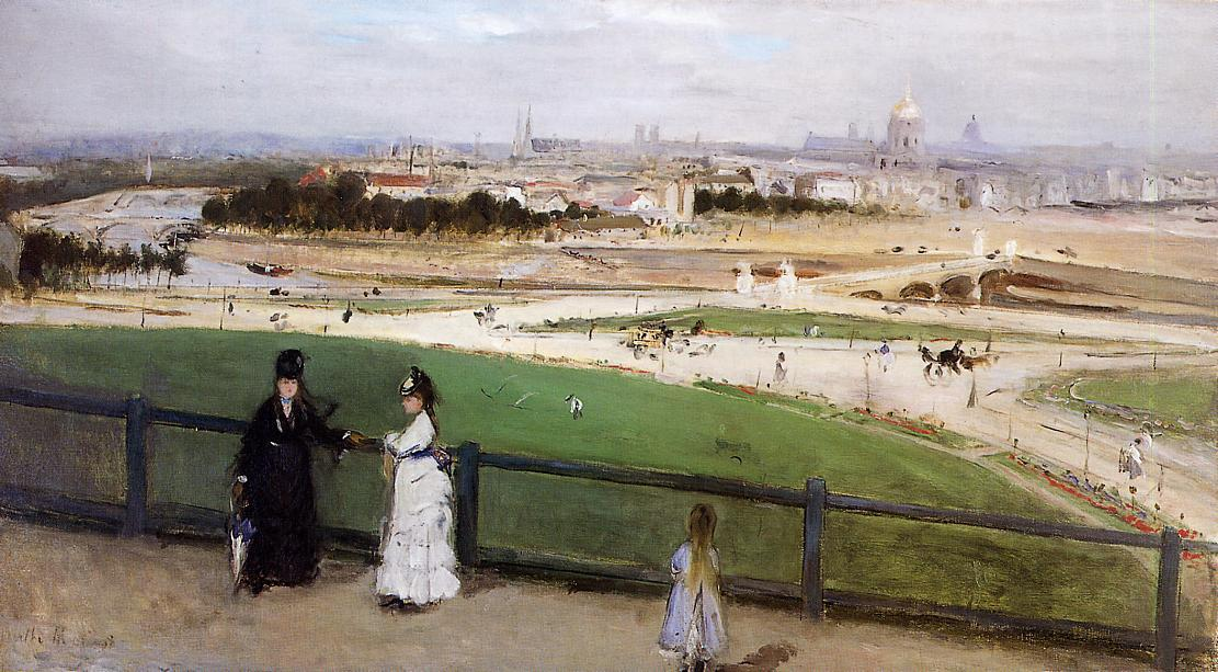 View of Paris from the Trocadero Heights, 1872 by Berthe Morisot (1841-1895, France) | Famous Paintings Reproductions | WahooArt.com