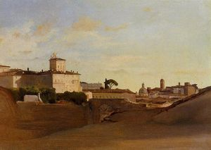 Jean Baptiste Camille Corot - View of Pincio, Italy