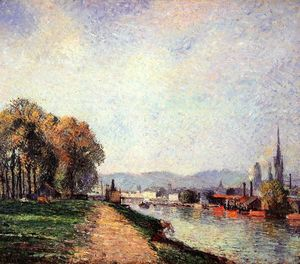 Camille Pissarro - View of Rouen (also known as Vours-la-Riene)