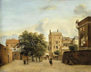 Jan Van Der Heyden - View of a Small Town Square
