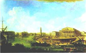 Fedor Yakovlevich Alekseev - View of the Stock Exchange and the Admiralty from the Fortress of St. Peter and Paul
