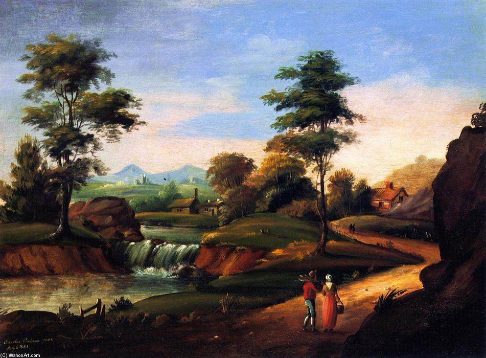 View of Twin Mountain, 1821 by Charles Codman (1800-1842, United States) | Art Reproduction | WahooArt.com