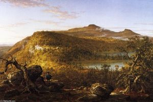 Thomas Cole - A View of the Two Lakes and Mountain House, Catskill Mountains, Morning