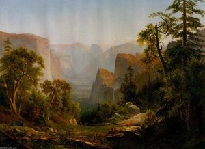 Thomas Hill - View of the Yosemite Valley, in California