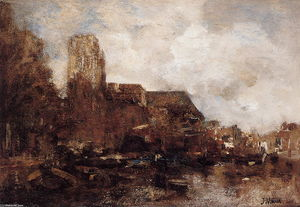 Jacob Henricus Maris - View on Dordrecht