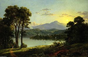 Christopher Pearse Cranch - View on the Hudson