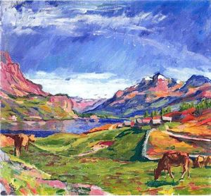 Giovanni Giacometti - View over Silser lake