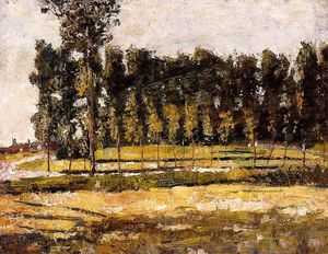 Lesser Ury - Village Road at the Edge of the Forest