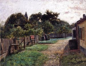 Theodore Clement Steele - Village Scene