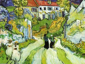Vincent Van Gogh - Village Street and Steps in Auvers with Figures