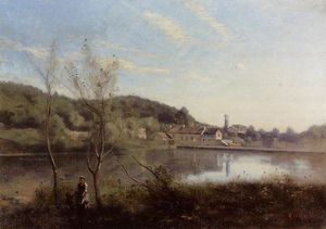 Jean Baptiste Camille Corot - Ville d-Avray, the Large Pond and Villas