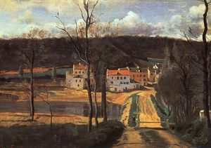 Jean Baptiste Camille Corot - Ville d'Avray - the Pond and the Cabassud House