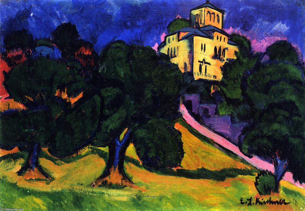 Villa in the Park (Dresden), Oil On Canvas by Ernst Ludwig Kirchner (1880-1938, Germany)