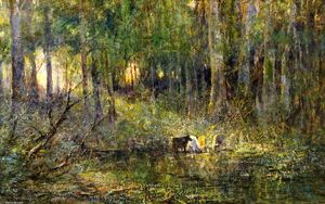 Frederick Mccubbin - Violet and Gold