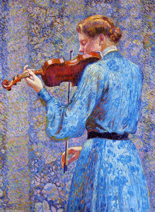 The Violinist, 1903 by Theo Van Rysselberghe (1862-1926, Belgium) | Oil Painting | WahooArt.com