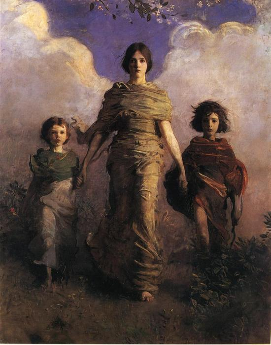 The Virgin by Abbott Handerson Thayer (1849-1921, United States) | Art Reproduction | WahooArt.com