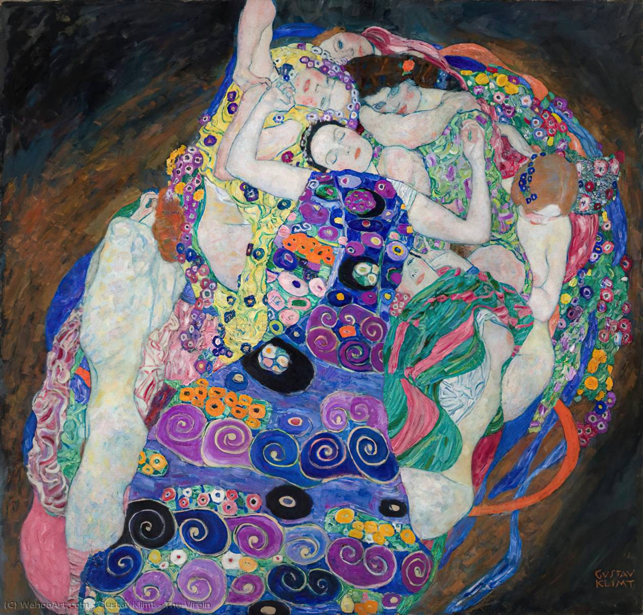 Order Museum Quality Copies | The Virgin, 1913 by Gustav Klimt (1862-1918, Austria) | WahooArt.com
