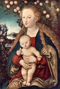 Lucas Cranach The Elder - Virgin and Child