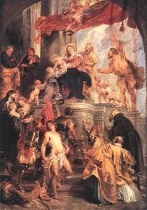 Peter Paul Rubens - Virgin and Child Enthroned with Saints