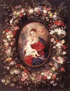 Peter Paul Rubens - The Virgin and Child in a Garland of Flower