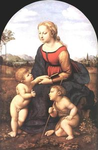 Raphael (Raffaello Sanzio Da Urbino) - The Virgin and Child with Saint John the Baptist (La Belle Jardini re)