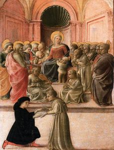 Fra Filippo Lippi - Virgin and Child with Saints, Angels, and a Donor