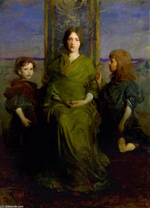 Virgin Enthroned, 1891 by Abbott Handerson Thayer  (buy Fine Art Art reproduction Abbott Handerson Thayer)