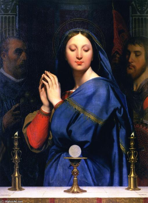 The Virgin of the Host, Oil On Canvas by Jean Auguste Dominique Ingres (1780-1867, France)