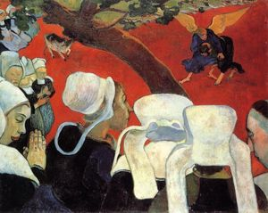 Paul Gauguin - The Vision after the Sermon (also known as Jacob Wrestling the Angel)
