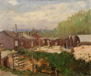 John Lavery - Voluntary Aid Detachment Camp, Rouen