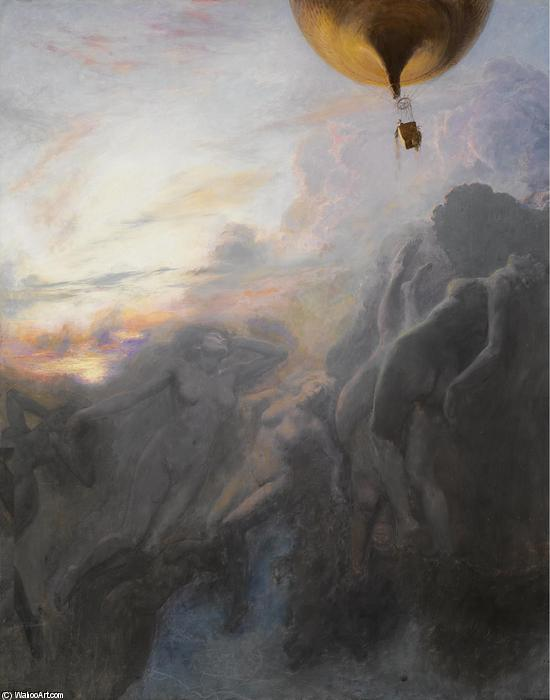 Voyage a l'Infini, Oil On Canvas by Émile Friant (1863-1932, France)
