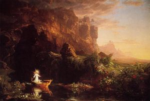 Thomas Cole - The Voyage of Life: Childhood