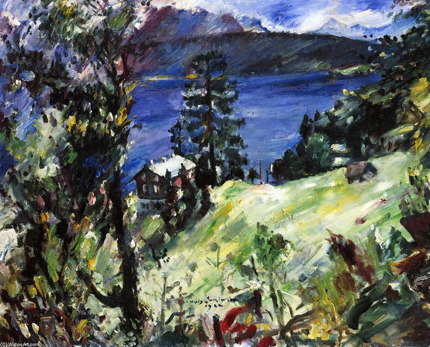 Walchensee Landscape, 1922 by Lovis Corinth (Franz Heinrich Louis) (1858-1925, Netherlands) | Painting Copy | WahooArt.com