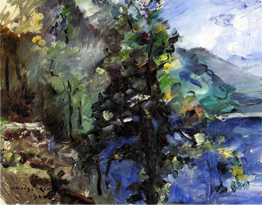 The Walchensee with the Slope of the Jochberg, Oil On Canvas by Lovis Corinth (Franz Heinrich Louis) (1858-1925, Netherlands)