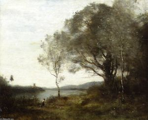 Jean Baptiste Camille Corot - The Walk around the Pond