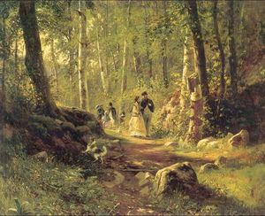 Ivan Ivanovich Shishkin - Walk in a forest
