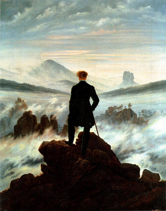 Wanderer above the Sea of Fog, 1818 by Caspar David Friedrich (1774-1840, Germany) | Museum Quality Reproductions | WahooArt.com