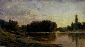 Charles François Daubigny - Washerwomen on the Banks of the Oise