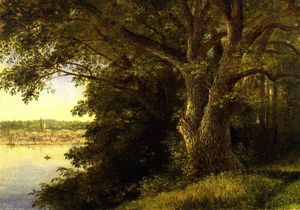 Christopher Pearse Cranch - The Washington Oak, Denning's Point (also known as Fishkill on the Hudson)