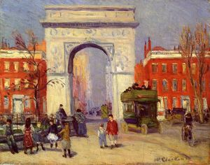 William James Glackens - Washington Square Park
