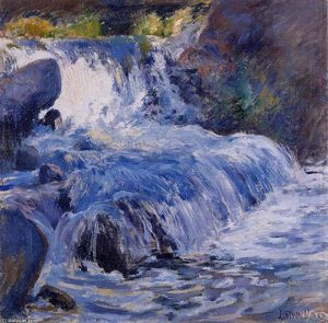 Order Art Reproduction : The Waterfall, 1895 by John Henry Twachtman (1853-1902, United States) | WahooArt.com