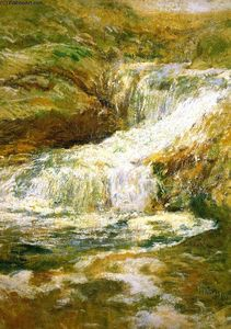 John Henry Twachtman - The Waterfall