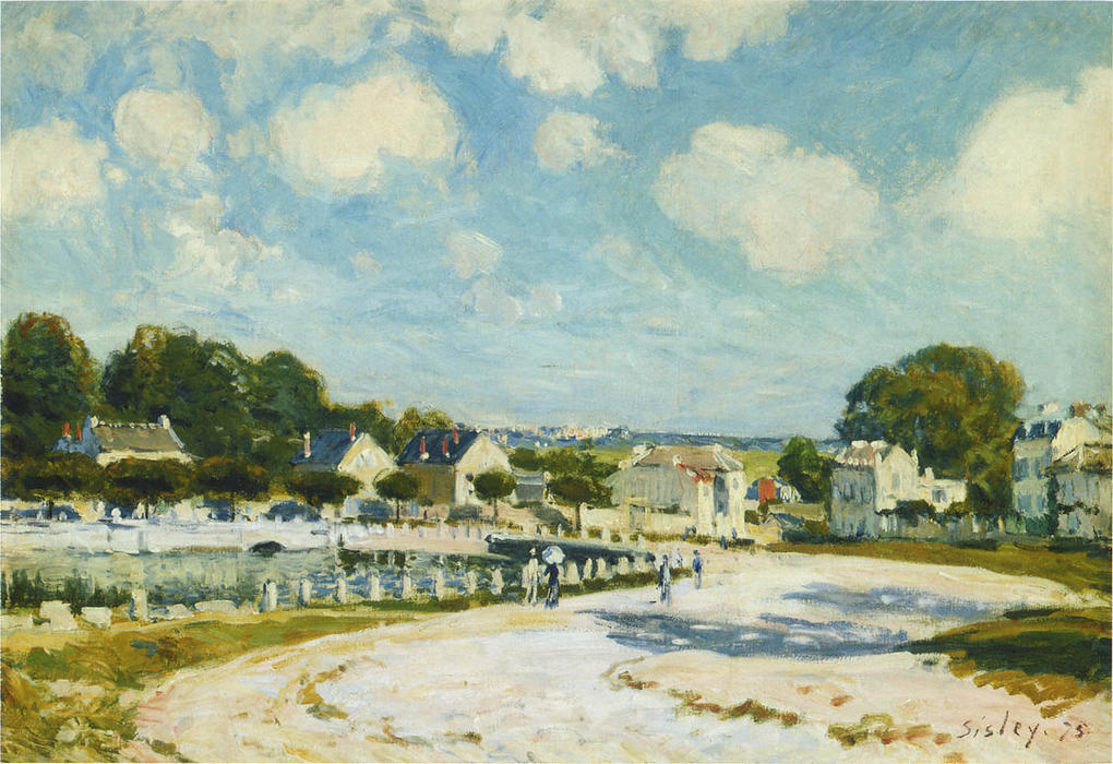 The Watering Place, Marly, 1874 by Alfred Sisley (1839-1899, France) | Art Reproduction | WahooArt.com