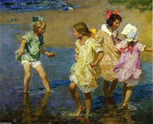 Edward Henry Potthast - Water Lillies