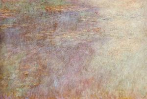 Claude Monet - Water-Lillies Pond (left half)