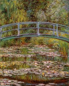 Claude Monet - The Water-Lily Pond (also known as Japanese Bridge)