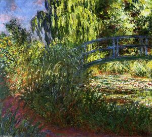 Claude Monet - Waterlily Pond and Path by the Water