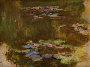 Claude Monet - The Water-Lily Pond (right side)
